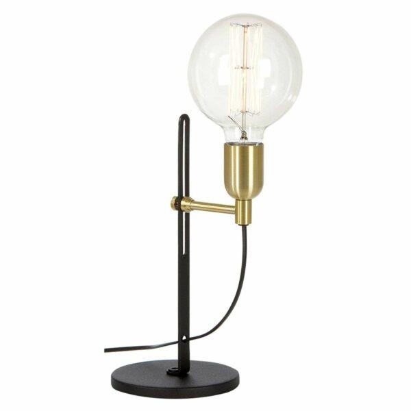 1-lamppuinen Regal-pöytävalaisin, musta/messinki