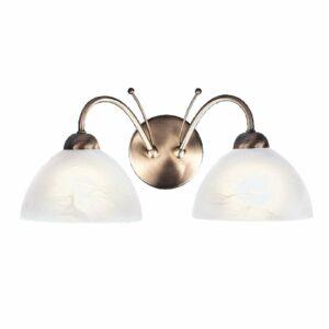2-lamp. vanhamessinkinen MILANESE-seinävalaisin
