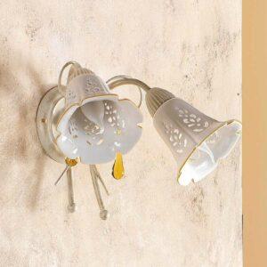 2-lamppuinen Gocce-seinävalaisin
