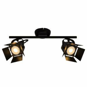 2-osainen Movie-LED-kattospotti, musta