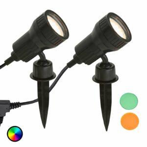 2:n setti LED-maapiikkivalo Terra värisuodattimet