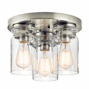 3-lamppuinen Brinley-kattolamppu