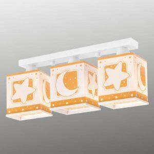 3-lamppuinen kattovalaisin Stars, oranssi