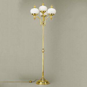 4-lamp. lattiavalaisin Delia, kiillotettu messinki