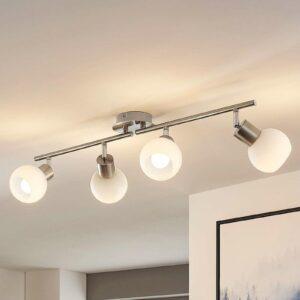 4-lampp. LED-kattovalaisin Elaina, matta nikkeli