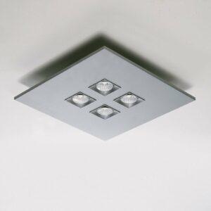 4-lamppu-kattovalaisin Poliferno, metallinharmaa