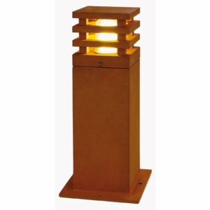 40 cm:n kork. LED-pylväsvalo Rusty nelikulmainen