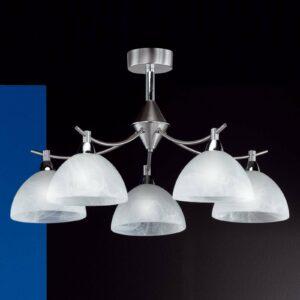 5 lampun Amsterdam-kattovalaisin, mattanikkeli