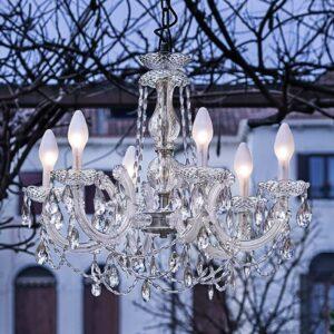 6-lamppuinen LED-ulkokattokruunu Drylight S6