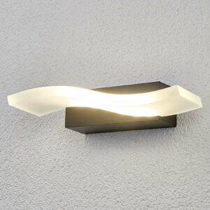 Aallon muotoinen LED-ulkoseinävalaisin Jirka
