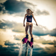 Canvas-taulu Girl with flyboard 363