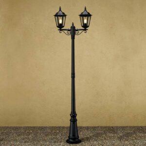 Firenze-lyhtypylväs, 2-lamppuinen, musta