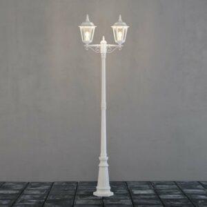 Firenze-lyhtypylväs, 2-lamppuinen, valkoinen