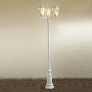 Firenze-lyhtypylväs, 3-lamppuinen, valkoinen