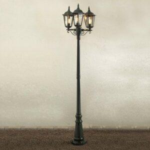 Firenze-lyhtypylväs, 3-lamppuinen, vihreä
