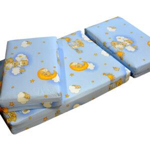 Jatkettava patja Teddy Bear sininen 75x100+42+42 cm