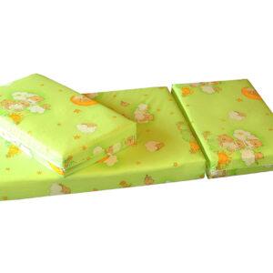 Jatkettava patja Teddy Bear vihreä 75x100+42+42 cm