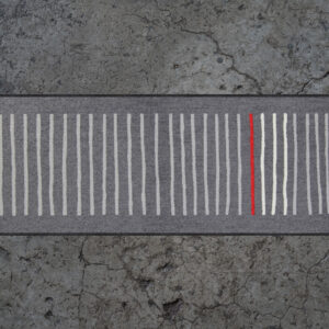 Matto Mikado graphite 60x180 cm