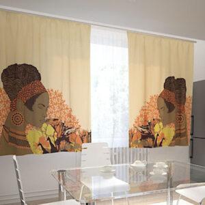 Pimennysverho AFRICAN MOTIVES 200x120 cm