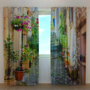 Pimennysverho BACK STREET IN FLOWERS 240x220 cm