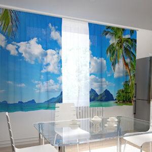 Pimennysverho BEACH BEHIND THE WINDOW 200x120 cm