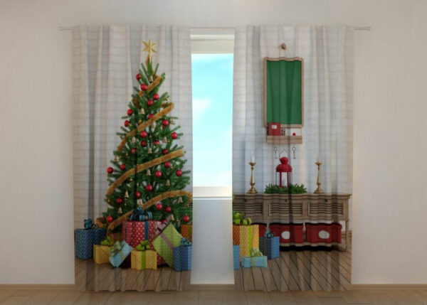 Pimennysverho Christmas Tree with Gifts 240x220 cm