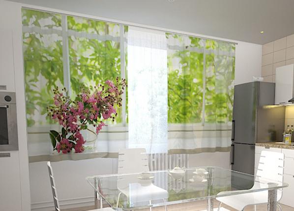 Pimennysverho FLOWER ON THE WINDOW SILL 200x120 cm