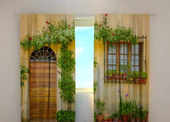 Pimennysverho FLOWERS BY THE DOOR 240x220 cm