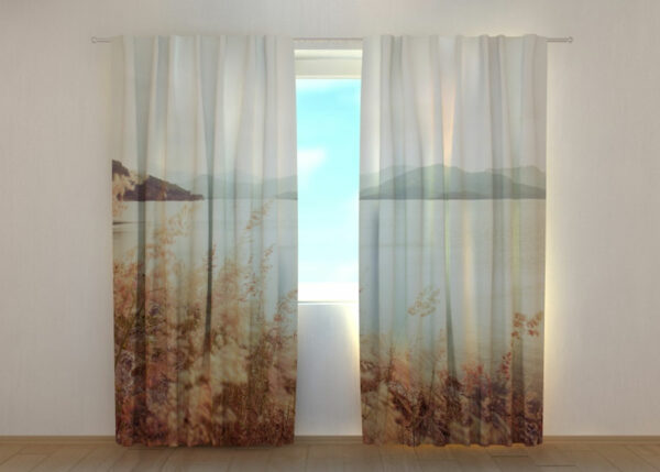 Pimennysverho Grass and Mountains in Vintage Style 240x220 cm