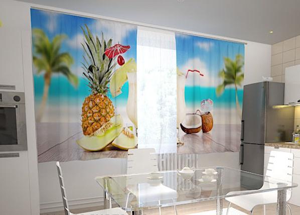 Pimennysverho HAWAII IN THE KITCHEN 200x120 cm