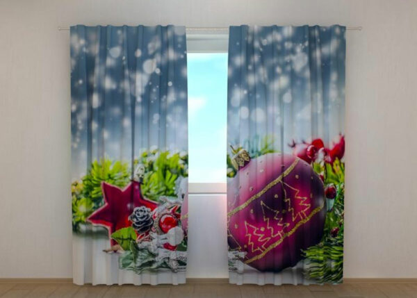Pimennysverho Xmas Decorations with Snow 240x220 cm