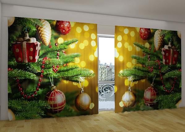 Pimentävä verho CHRISTMAS TOYS 360x230 cm