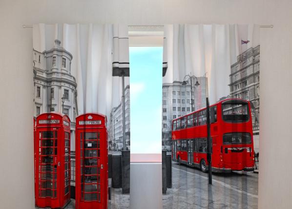 Pimentävä verho LONDON BUS 240x220 cm