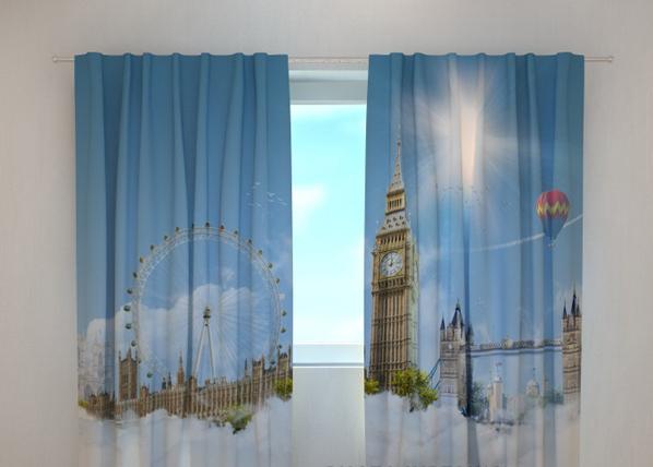Pimentävä verho LONDON SKY 240x220 cm