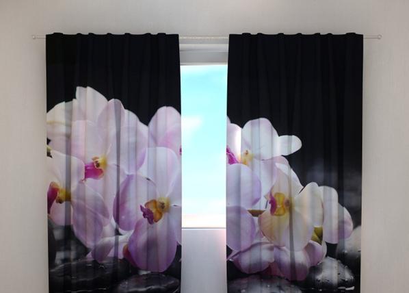 Pimentävä verho ORCHIDS ON STONE 240x220 cm