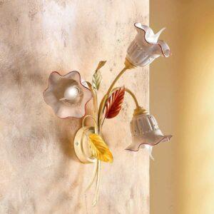 Seinävalaisin Flora, firenzeläistyyli, 3 lamppua