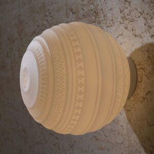 Suupuhallettu design-kattovalaisin Braille, 25 cm
