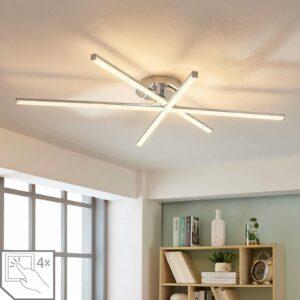 3-lamppu-LED-kattovalaisin Korona, himmennin