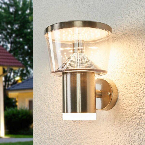 Antje-LED-ulkoseinävalaisin, ruostumaton teräs