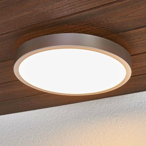 Liyan - hopeinen LED-kattolamppu kylpyhuoneeseen