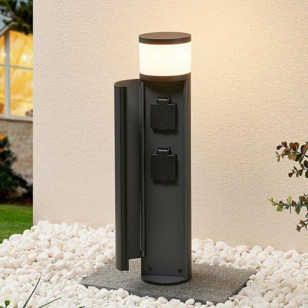 Lucande Corban -LED-valaisin, luukku + pistorasiat
