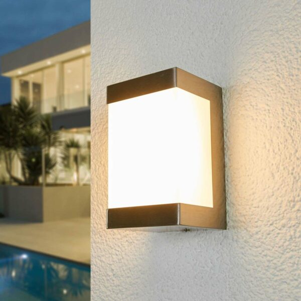 Severina-LED-ulkoseinälamppu ruostumatonta terästä