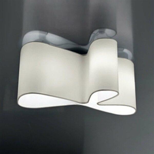 Viehättävä design-kattovalaisin Mugello, valkoinen