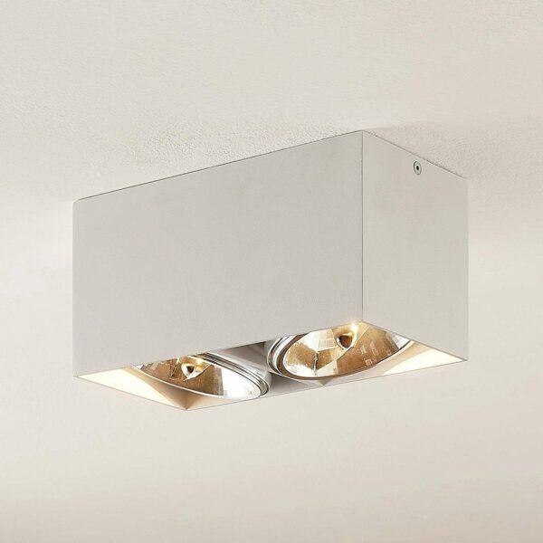 Arcchio Jarle -kattovalaisin, 2-lamp., valkoinen