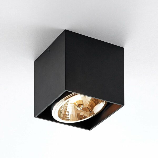 Arcchio Jarle -kattovalo, 1-lamp., musta