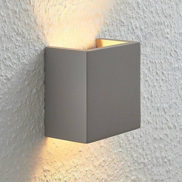 Betoninen seinävalo Smira harmaa, 12,5x12,5cm