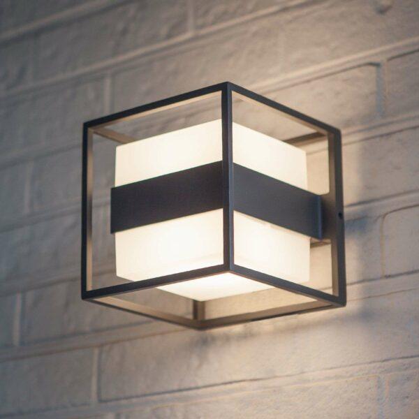 Cruz-LED-ulkoseinävalaisin, kuution muotoinen