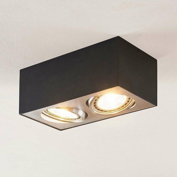 LED-kattolamppu Dwight musta, 2-lamppuinen