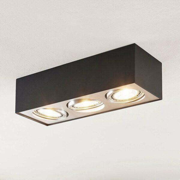 LED-kattolamppu Dwight musta, 3-lamppuinen
