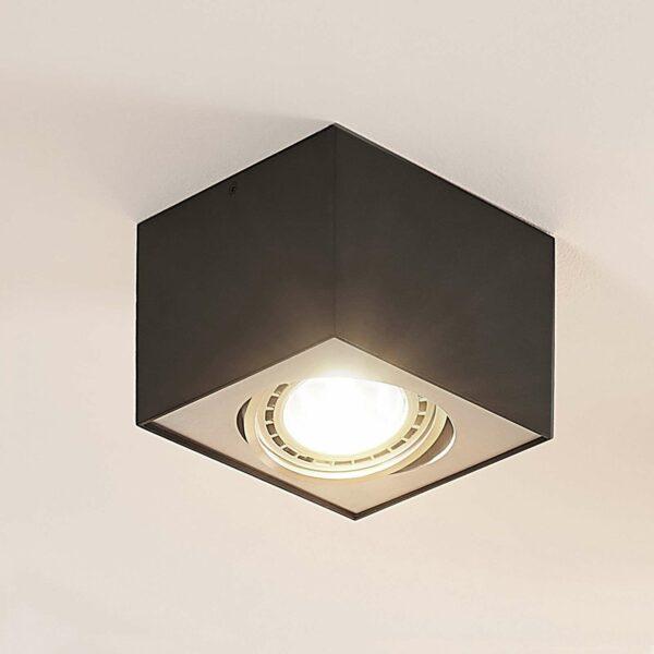 LED-kattospotti Dwight musta, 1-lamppuinen